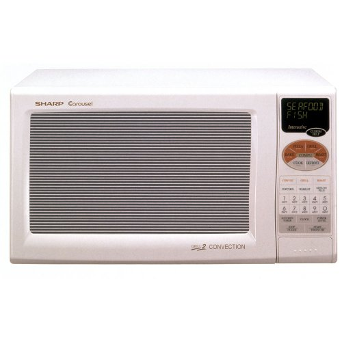 Sharp R-820Bw 900-Watt 0.9-Cubic-Foot Convection Microwave, White