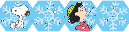 Eureka Peanuts Happiness Is A Snowflake Extra Wide Die-Cut Deco Trim, Set of 12 Reusable Strips