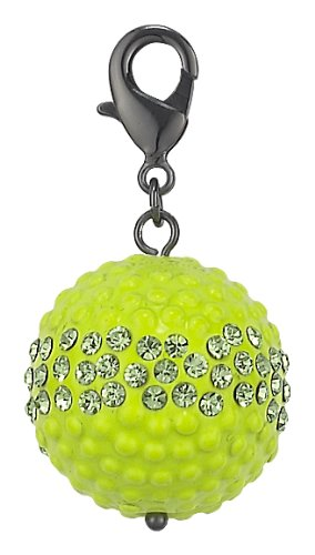 Pilgrim Women's Pendant Black Metal, Lime 514349
