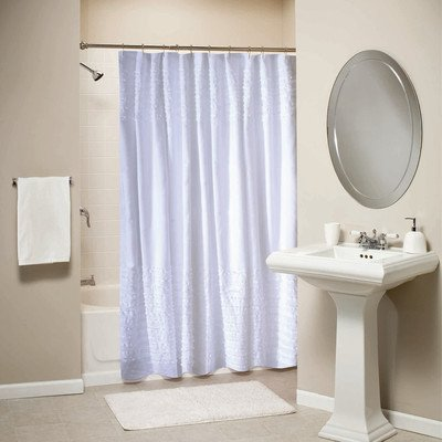 Best White Ruffle Shower Curtain For The Bathroom