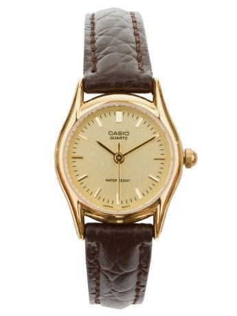 American Apparel LTP1094Q-9A Casio Ladies Wristwatch - Brown Snake / Gold Lines / Gold / One Size