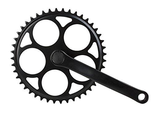 Fahrrad Stahl Kettenradgarnitur Kurbel 1-fach schwarz 44 Zähne