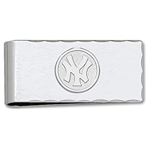 MLB New York Yankees Plated Money Clip with Sterling Silver Logo