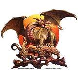 Dragon Sun Decorative Sticker Decal By Boris Vallejo & Julie Bell