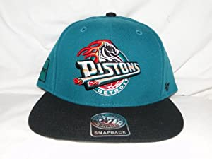 New! NBA Detroit Pistons Teal & Black Snapback by