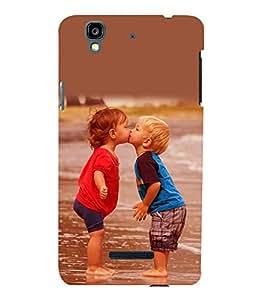 printtech Baby Kiss Love Back Case Cover for YU Yureka::Micromax Yureka AO5510