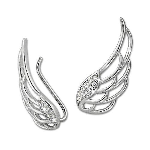 SilberDream orecchini ala Ear Cuff orecchini a clip argento gso410W