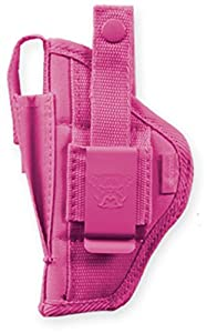 Bulldog Cases Pink Belt and Clip Ambi Holster (Fits Most Small Frame Revolvers with 2 - 2 1/2-Inch Barrels, S & W J Frame)