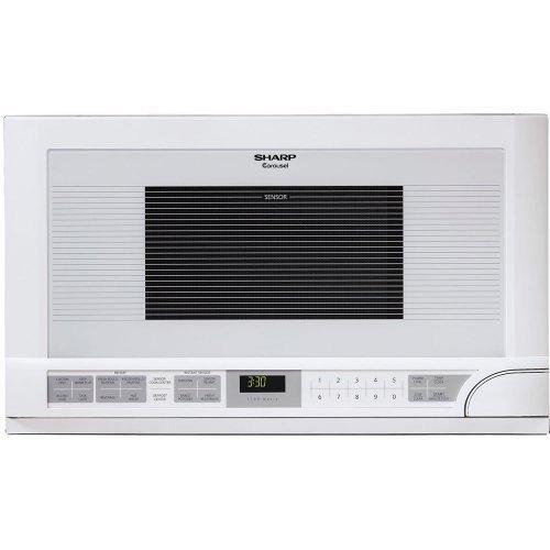 Sharp R-1211 1-1/2-Cubic Feet 1100-Watt Over-The-Counter Microwave, White