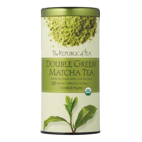 The Republic Of Tea Double Green Matcha, 50 Tea Bags, Gourmet Blend Of Organic Green Tea And Matcha Powder