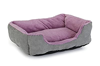 Beeztees Baboo Cat Rest Bed, 37 cm, Grey/Purple