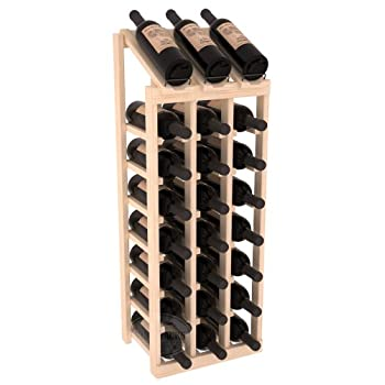 Wine Racks America Ponderosa Pine 3 Column 8 Row Display Top Kit. Unstained