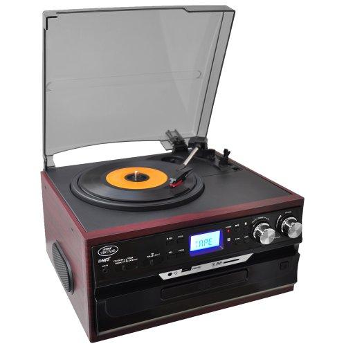 Pyle PTTCDS7U Classic Vintage Turntable  AM/FM