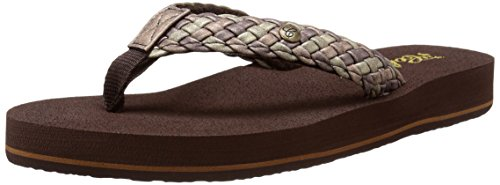 Cobian Women's Braided Bounce Flip Flop, Chocolate, 8 M US