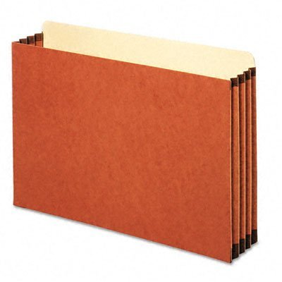 TOPS Globe-Weis Heavy Duty File Cabinet Pockets, 3.5 Inch Expansion, Legal Size, 10 Pockets Per Box, Brown (FC1526E)