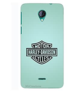 MiiCreations 3D Printed Back Cover for Micromax Unite 2 A106,Harley Davidson