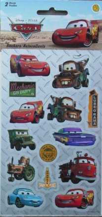 Disney Pixar Cars Scrapbook Stickers (PDCR4)