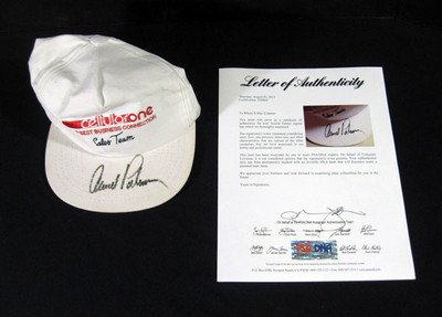 Arnold Palmer Signed CellularOne Golf Hat Auto - PSA/DNA Certified - Autographed Golf Equipment