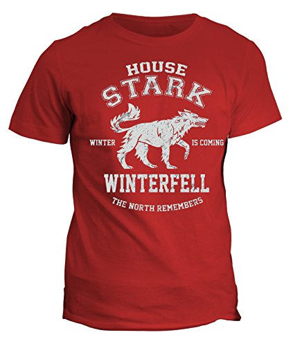 Tshirt Games of thrones -House Stark - winter is coming - jon snow- serie tv telefilm uomo donna bambino - in cotone by Fashwork