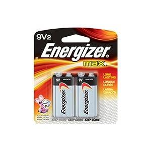 Energizer Premium Max Batteries 9-Volt (Per 2)