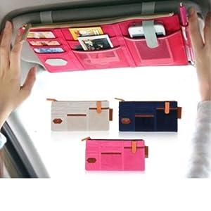 megatek automobile pare soleil multifonctionnel sac en tissu d 39 encaissement. Black Bedroom Furniture Sets. Home Design Ideas