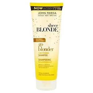 John Frieda Sheer Blonde Shampooing Go Blonder Eclaircissant pour Cheveux Blonds 250 ml