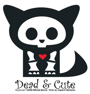 Skelanimals - Dead and Cute Cat - Sticker / Decal