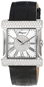 Salvatore Ferragamo Women's F57SBQ9102S S009 Palagio Diamond Roman Numeral Mother-Of-Pearl Watch by Salvatore Ferragamo