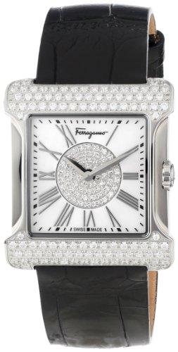 Ferragamo Women's F57SBQ9102S S009 Palagio Diamond Roman Numeral Mother-Of-Pearl Watch