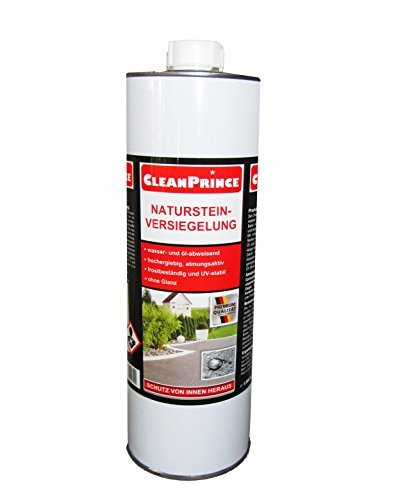 natursteinversiegelung 1 liter 1000 ml von cleanprince wasser und l abweisend hochergiebig. Black Bedroom Furniture Sets. Home Design Ideas