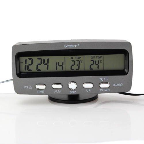 Unihandbag Digital Lcd Display For 12V Car Bd3 Thermometer & Voltage F/C W / Ice Alert