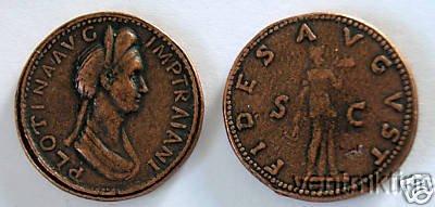 (DD S 51) Sestertius of Plotina COPY
