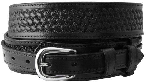 James Western Basketweave Embossed Ranger Belt for Men (40, Black) (Hand Tooled Belt compare prices)