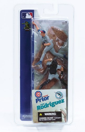 IVAN RODRIGUEZ / FLORIDA MARLINS & MARK PRIOR / CHICAGO CUBS * 3 INCH * McFarlane's MLB Sports Picks Series 1 Mini Figure 2-Pack