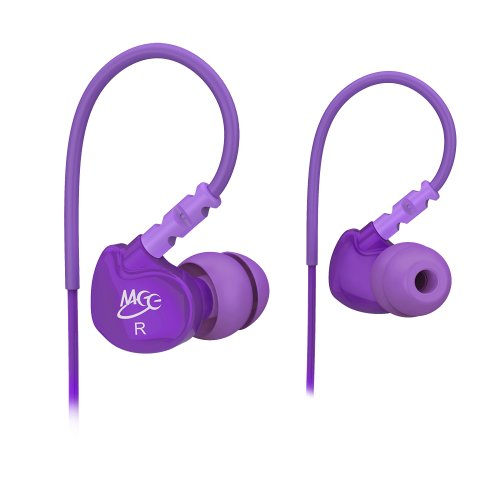 Meelectronics Sport-Fi M6 Noise-Isolating In-Ear Headphones With Memory Wire (Purple)
