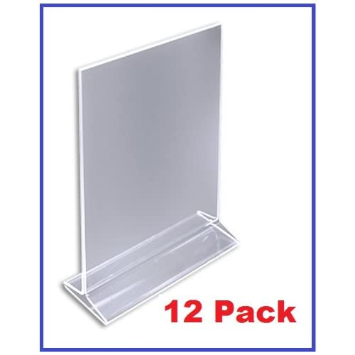 Universal Retail Rack Acrylic Frame Clamp On 7 x 11 Sign Holder Card Display 11 H 5 Pack