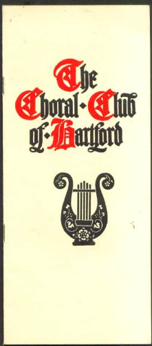 Choral Club Of Hartford 1St Concert Program 1936 Ct