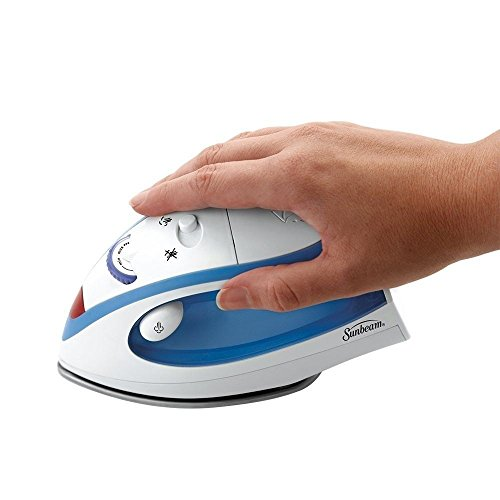New Sunbeam GCSBTR 100 Travel Iron Mini Electric Compact Dual Voltage Steam, NK. (Rowenta Iron Board Cover compare prices)