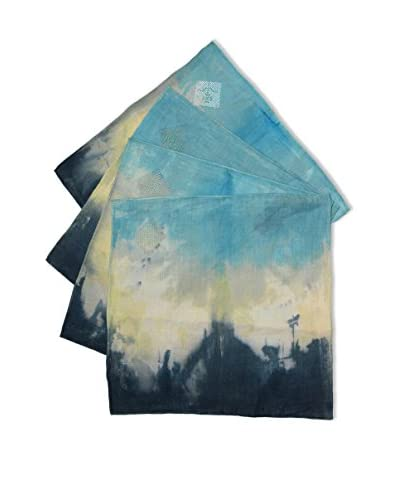 Uptown Down Set of 4 One-of-a-Kind Hand-Dyed Napkins
