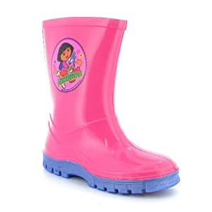 Girls Pink Dora The Explorer Wellington Boots - Pink - UK 6-12