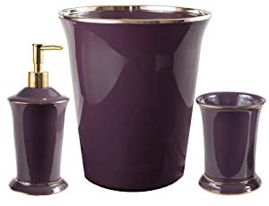 Home kitchen bath bathroom accessories wastebaskets for Plum bathroom accessories