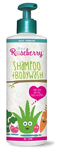 Baby Shampoo and Body Wash |Organic Aloe Vera Juice and superfoods such as broccoli, carrots and berries to nourish and promote healthy skin| Natural Formula Perfect for children with sensitive skin & Eczema | Paraben, Sulfate & fragrance Free |Made in USA