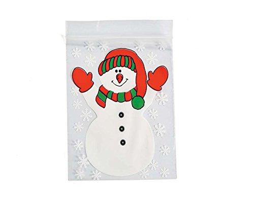 12-christmas-snowman-resealable-plastic-bags-for-gifts-gift-wrap-supplies