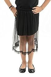 StyleMyKidz Girls' Skirt (GSK101_6 Years, Black, 6 Years)