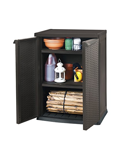 keter 17190255 universalschrank rattan style mini shed. Black Bedroom Furniture Sets. Home Design Ideas