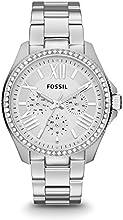 Comprar Fossil AM4481 - Reloj analógico de cuarzo para mujer con correa de acero inoxidable, color plateado