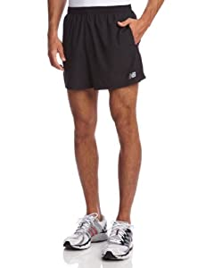 New Balance Men's 5-Inch Go 2 Shorts, Black, Medium