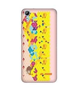 Stripes And Elephant Print-63 HTC Desire 826 Case