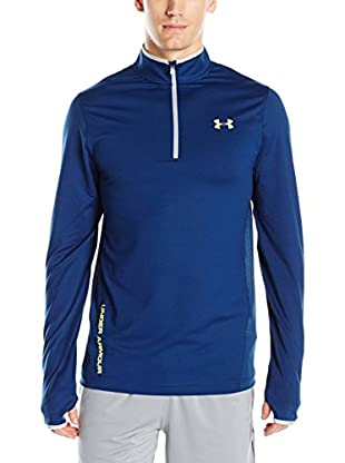Under Armour Camiseta Técnica Challenger Knit 1/4 Zip (Azul)