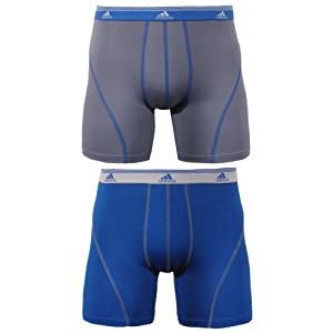 adidas Men's Sport Performance Climalite 2-Pack Boxer Brief, Master Blue/Thunder, X-Large